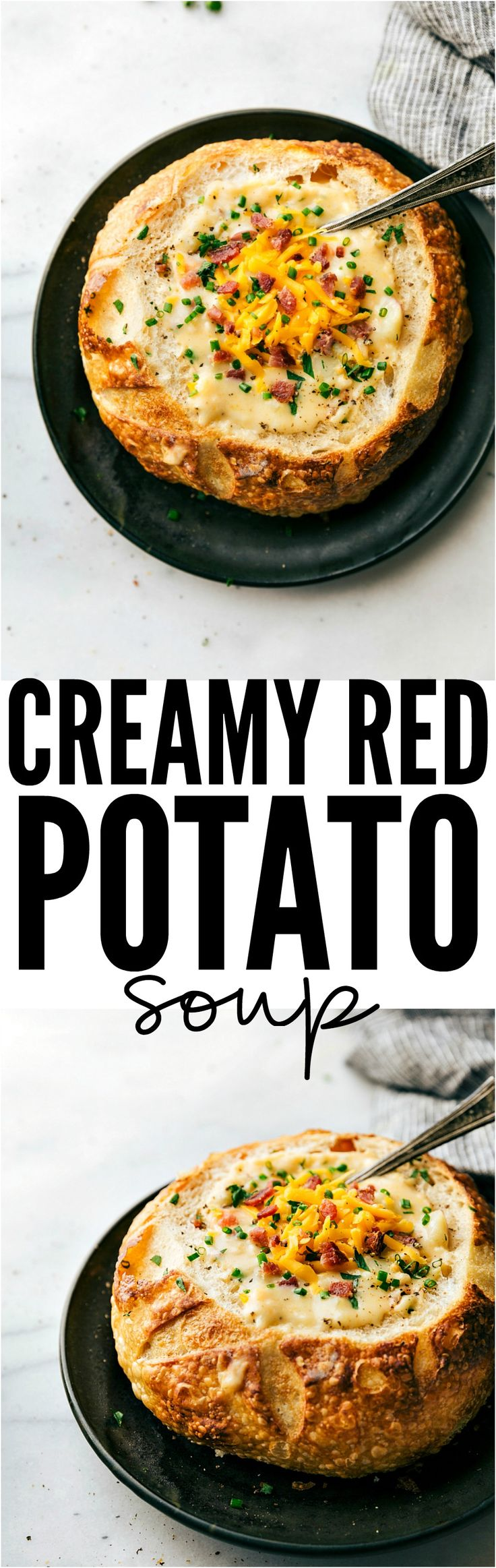 Creamy and cheesy red potato soup that the whole family will love!