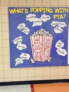 What's Popping with PTA? bulletin board | PTA Ideas