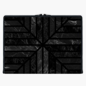 'Night Stone' Laptop Sleeve By Fimbis | Snupped #symmetry #stripes #blackandwhite #macbook #macbookpro #Lenovo #fashion #monochrome #grey