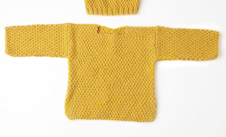 Rivista bebè Babystories 4 Autunno / Inverno | 19: Bebè Maglione - Maglia | Senape