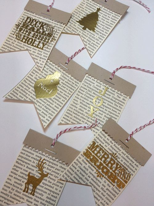 Christmas tags from Stampin' Up