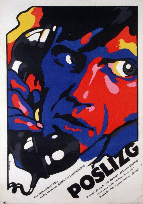 """Waldemar Świerzy, Plakat do filmu """"Poślizg"""", 1974"""