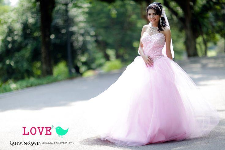 Wedding dress pink  make up | wardrobe | photo graphy by #kahwinkawinbridal #bridal #bride #sgbrides #makeup #mua #hairstyles #hairstyling #hairdo #photoshoot #photography #prewedding #outdoorshoot #ido #wedding #onceinalifetime #exclusive #fairytale #pengantin #moment #love #melayu #malay