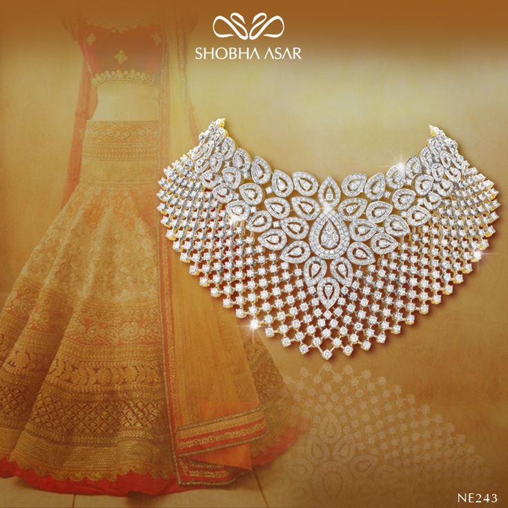 Searching for mesmerising #wedding jewellery? #diamond #necklace #neckpiece #sparkle #ShobhaAsar #ShobhaAsarJewels #ShobhaAsarJewellery