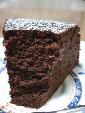 チョコレートスフレチーズケーキ