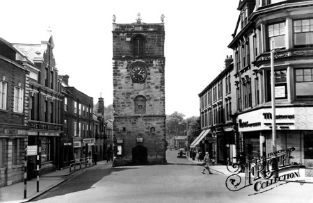 Old photo of The Clock Tower c1965, Morpeth The town where I was born.