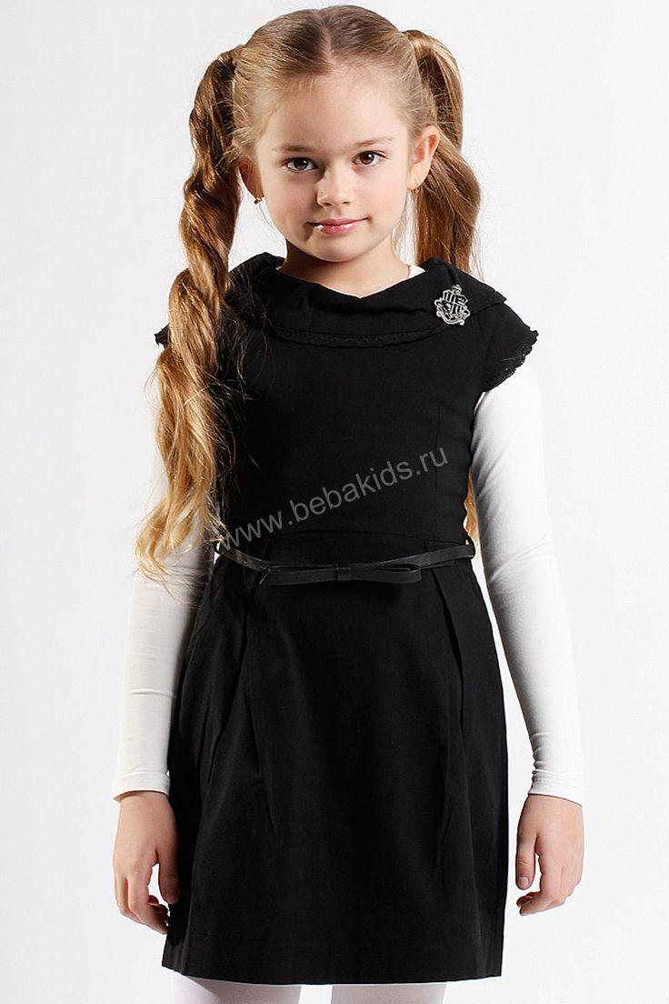 """Платье """"Классика с шитьем"""" для девочки 28626-002 чёрный Noble People"""