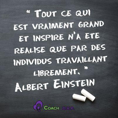 La citation du jour, Albert Einstein.