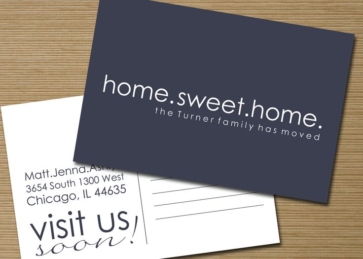 We Have Moved Postcard Printable Home Sweet Home New Address Card 15 00