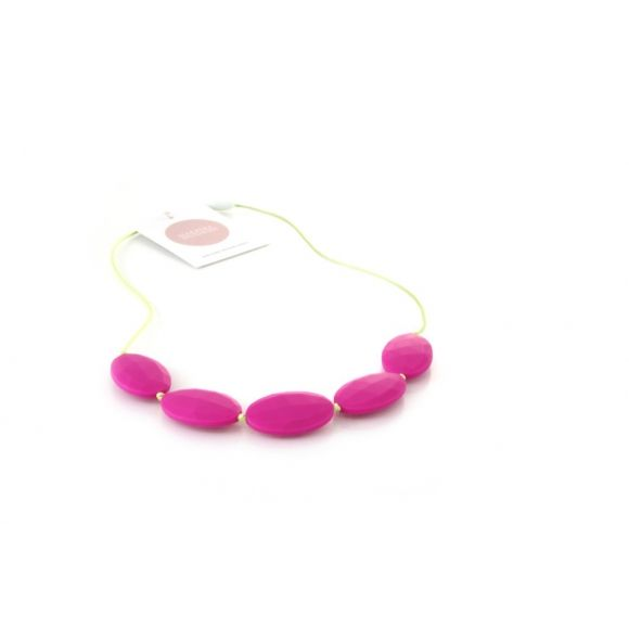 Oliver Baby Safe Necklace - Raspberry Lime
