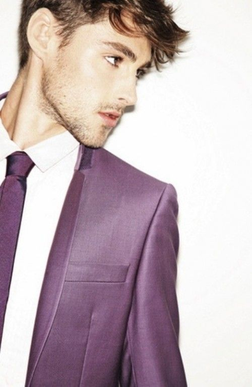 Purple Tuxedo & Tie for Groom - if we can find one like this I MIGHT let him do it....
