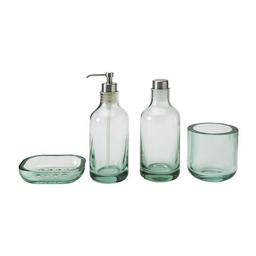 IKEA 365 Glass Clear Glass Master Bath Glasses And Bath
