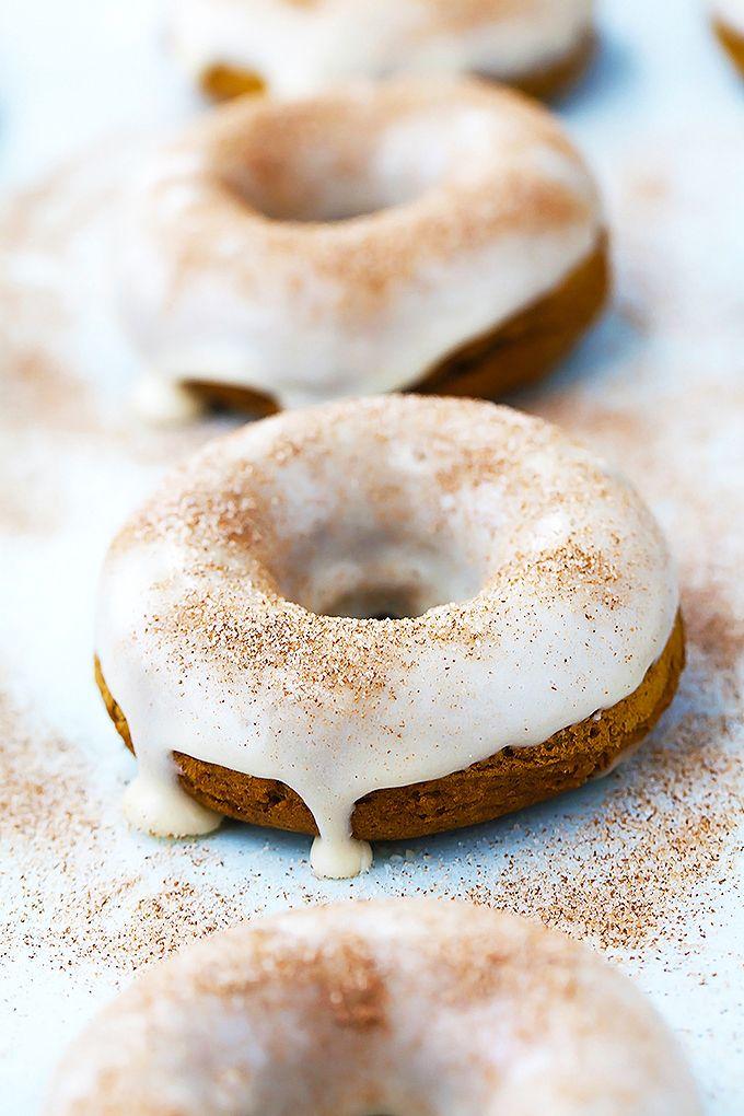 3 Ingredient Baked Pumpkin Donuts | Recipe