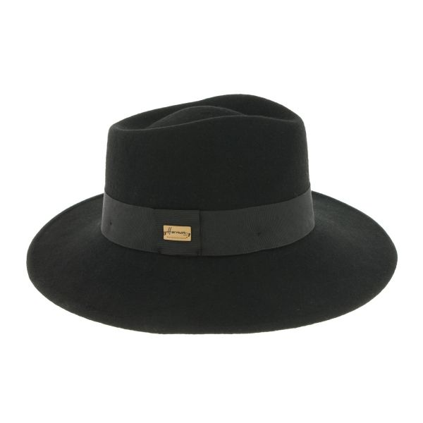 Chapeau Fedora Femme Noir Curtis par Herman #mode #femme #bonplan #shopping