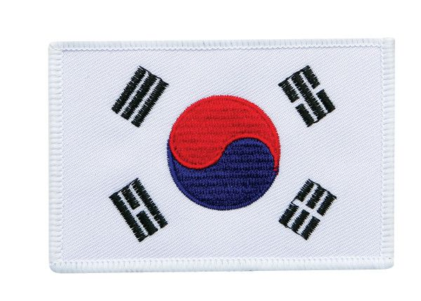 "KOREAN FLAG PATCH ""White Border"""
