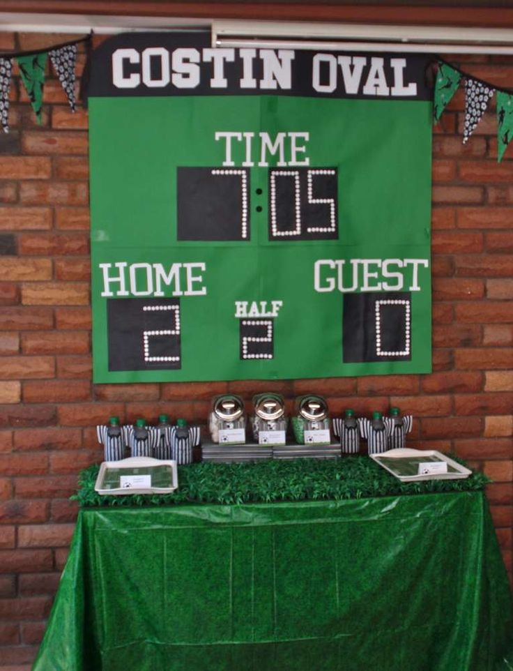 Soccer - green, black & white Birthday Party Ideas   Photo 1 of 21   Catch My Party