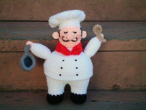 Amigurumi Little Bigfoot Panda : Chef amigurumi...free pattern. Crochet with Passion ...
