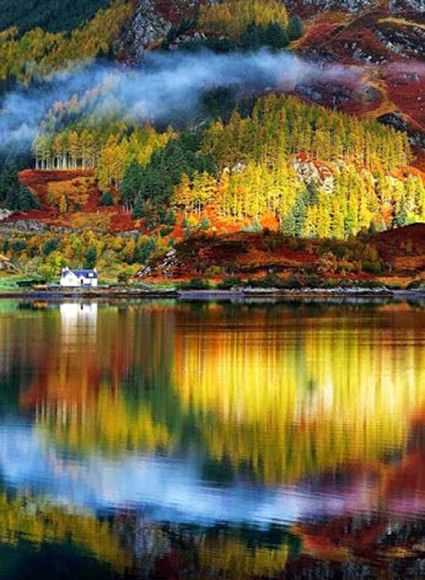 A beautiful fall afternoon in scotland