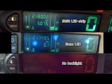 8) LED Dashboard Lights Mod (Xsara Picasso) - YouTube