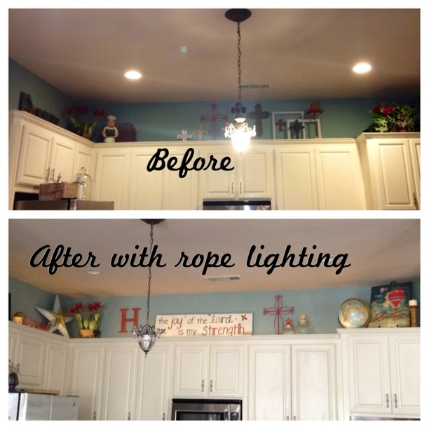 Rope Lighting Over Kitchen Cabinets