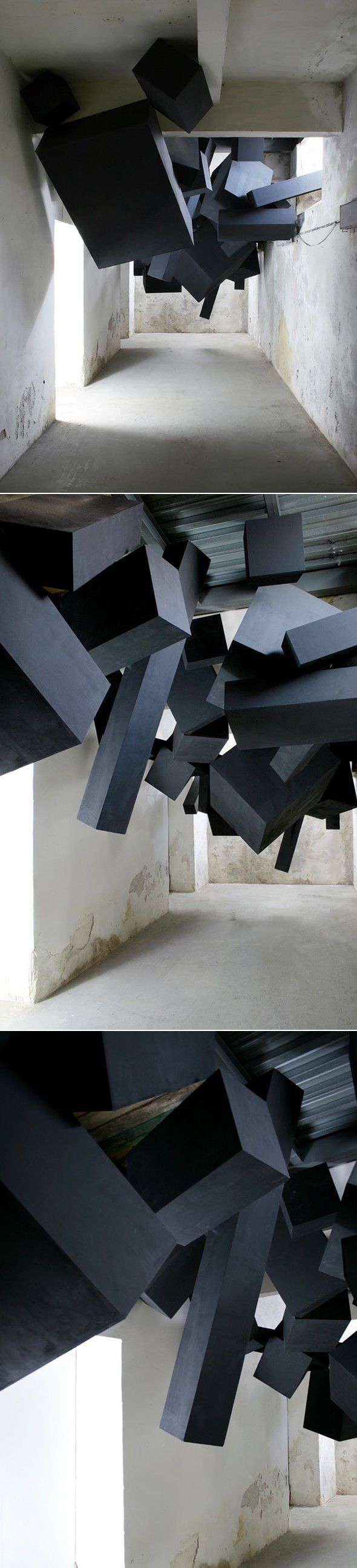 """SOONER OR LATER IT ALL COMES DOWN"""" is the name given to the last sculptural installation by visual design studio Via Grafik"""