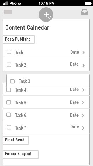 Content Calendar from Asana - UI Design Pattern - Wireframe Templates and User Experience Design Resources |UXPorn by UXPin