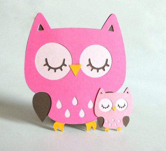 Hoot Owl Party Decoration Centerpiece by SprinklesPaperieCo