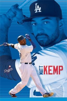 Matt Kemp LA Los Angeles Dodgers MLB Poster