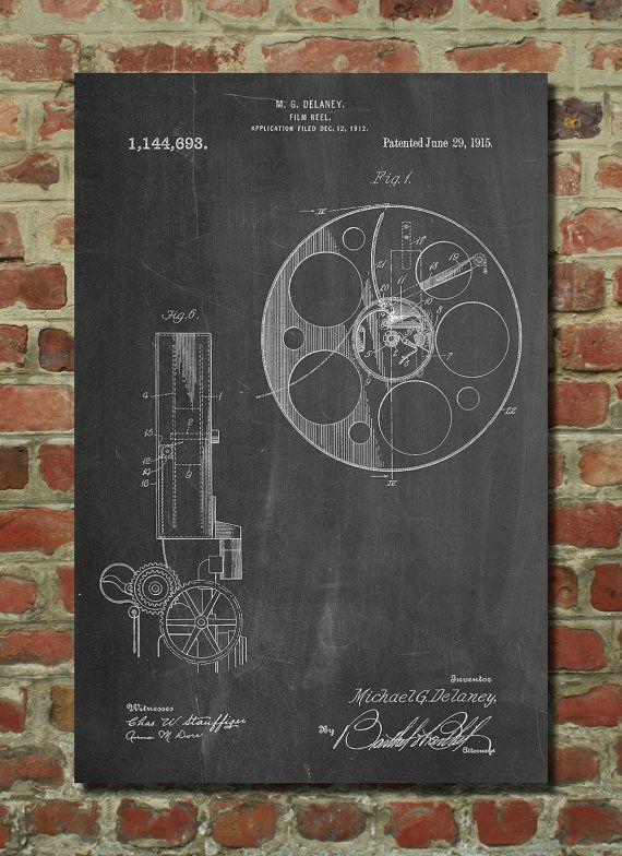 Film Reel Poster, Film Reel Patent, Film Reel Print, Film Reel Art, Film Reel Decor, Film Reel Wall Art, Film Reel Blueprint