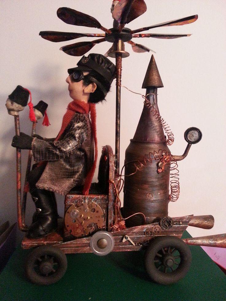 Steampunk Wenzel & his car