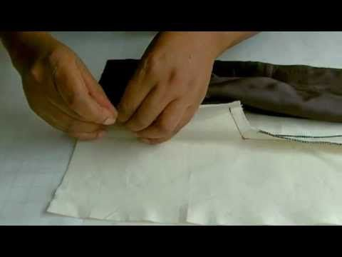 how-to-make-a-dress - Centre Back lining construction full video - YouTube