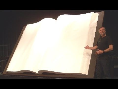 ▶ How To Make A Giant Book - YouTube This would make great Window Art.