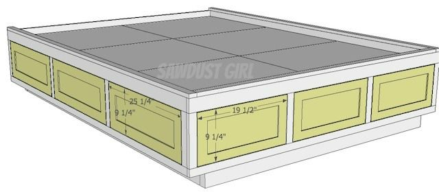 Build it:  Queen Platform Storage Bed