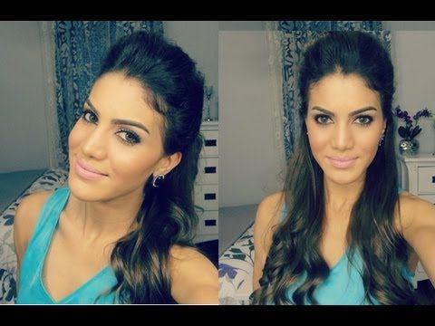 Penteado facil usando Topete por Camila Coelho - YouTube
