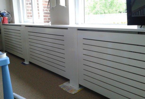 Zelf gemaakte radiator ombouw uit MDF