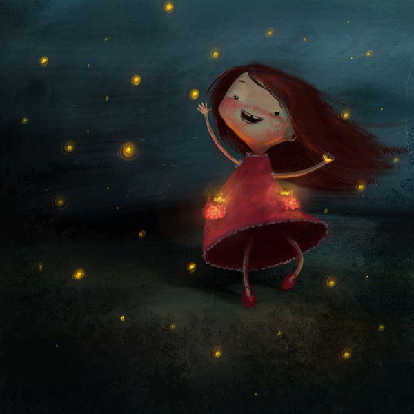 Catching fireflies by Susan Batori, via Behance