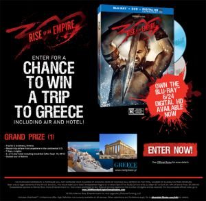 Warner Bros 300: Rise of an Empire Sweepstakes