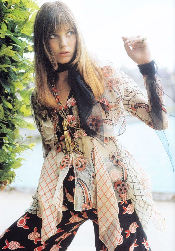 Prints.: Fashion, Janebirkin, 70S, Vintage Prints, Street Style, Style Icons, Celia Birtwel, Ossi Clarks, Jane Birkin