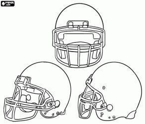 American football helmet in blank to decorate coloring