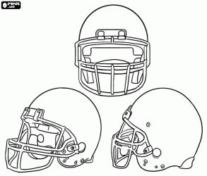 American football helmet in blank to decorate coloring page