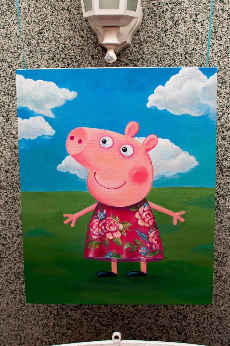 Peppa pig painting! I want to paint this for Isabella