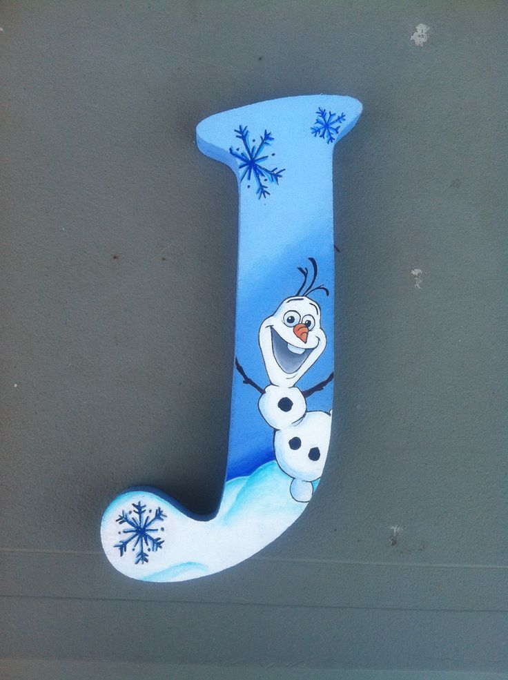 Frozen Olaf wooden letter by Kacey Manjarrez. This one ...