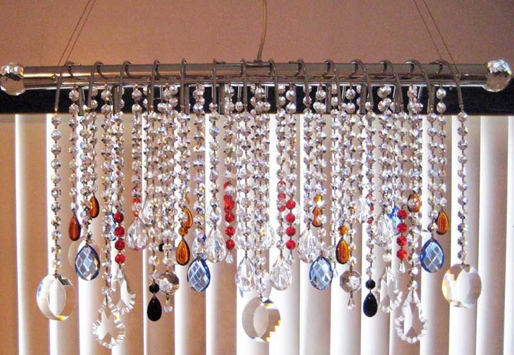 Crystal chandelier fixture create your own with your for How to make your own chandelier