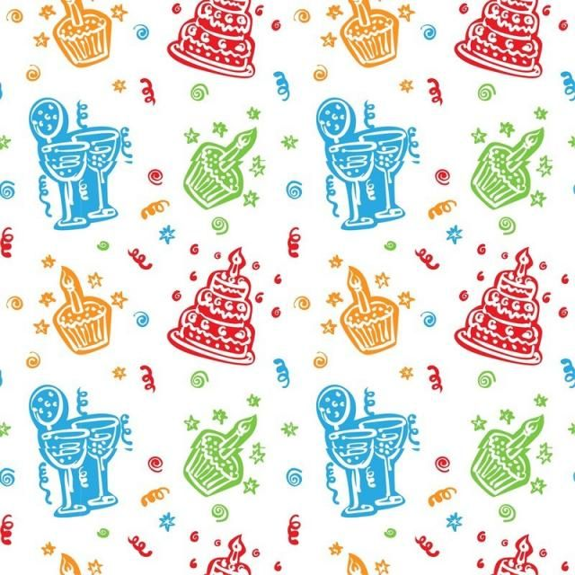 Colorful Happy Birthday Pattern Background Colorful Happy