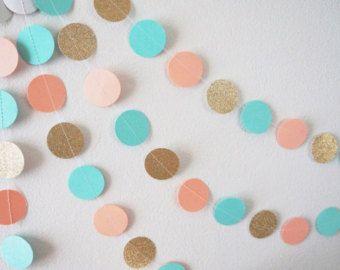 Guirnalda de papel de corazón de color rosa y oro Lux por GoldDrift