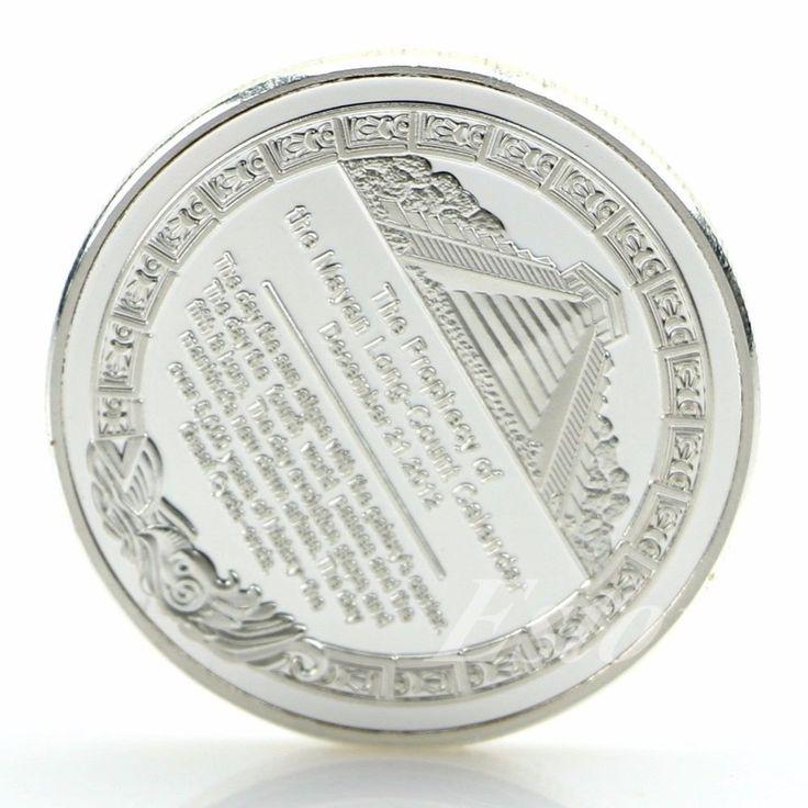 Mayan Aztec Calendar Souvenir Commemorative Coin Collection Gift Gold / Silver - Coins
