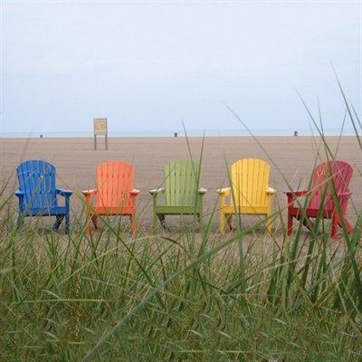 Berlin Gardens Comfo Back Tropical Adirondack Chair Set