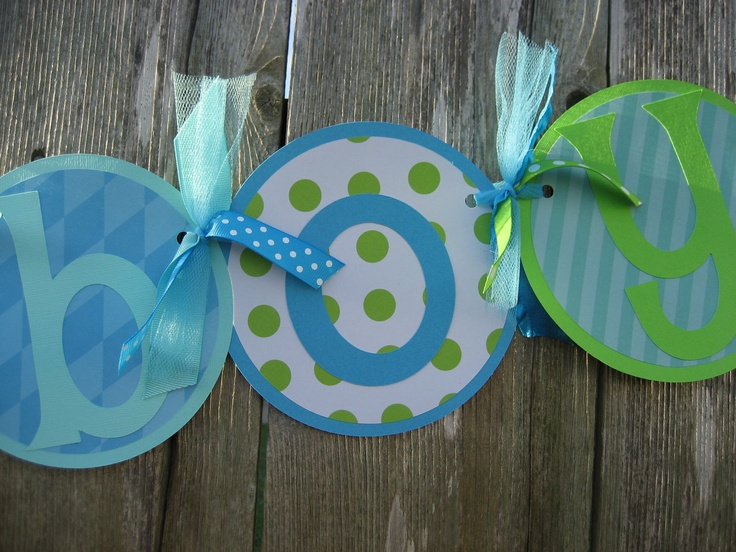 baby shower decorations it 39 s a boy baby shower banner blue green