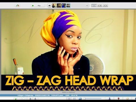 "▶ HOW TO ""ZIG-ZAG"" YOUR HEAD WRAP 