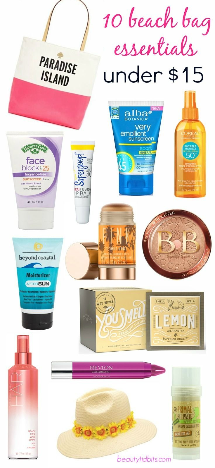 Are you ready for some beach fun? Beach bag essentials under $15 via @beautytidbits